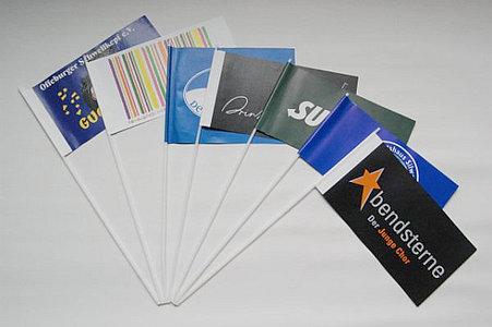 Werbeartikel drucken: Papierfahnen drucken
