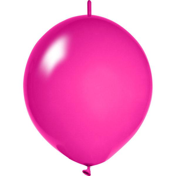 magenta Girlanden Luftballons bedrucken
