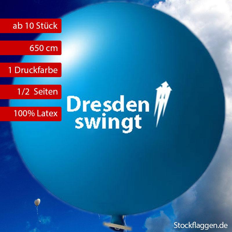 210 cm Riesenballon mit Werbedruck 1 farbig ab 10 Stück