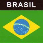 Aufkleber Brasilien, Länderaufkleber, Nationalflagge, Autoaufkleber