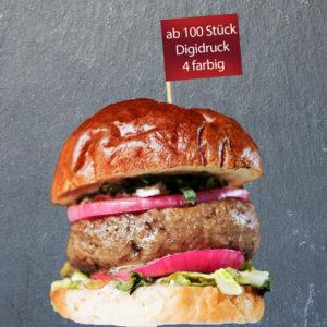 Burger Picker bedrucken 4-farbig