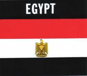 Aufkleber Ägypten, Länderaufkleber, Nationalflagge, Autoaufkleber
