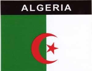 Aufkleber Algerien, Länderaufkleber, Nationalflagge, Autoaufkleber
