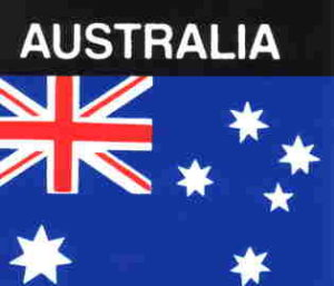 Aufkleber Australien, Länderaufkleber, Nationalflagge, Autoaufkleber