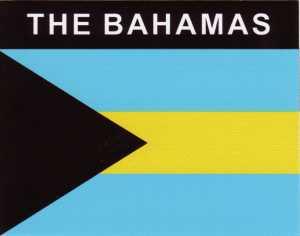 Aufkleber Bahamas Flagge