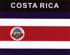 Aufkleber Costa Rica, Länderaufkleber, Nationalflagge, Autoaufkleber