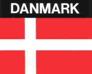 Aufkleber Dänemark, Länderaufkleber, Nationalflagge, Autoaufkleber