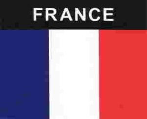 Aufkleber Frankreich, Länderaufkleber, Nationalflagge, Autoaufkleber