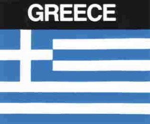 Aufkleber Griechenland, Länderaufkleber, Nationalflagge, Autoaufkleber