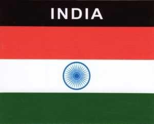Aufkleber Indien Flagge