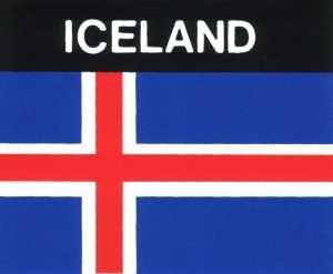 Aufkleber Island, Länderaufkleber, Nationalflagge, Autoaufkleber