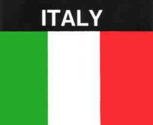 Aufkleber Italien, Länderaufkleber, Nationalflagge, Autoaufkleber