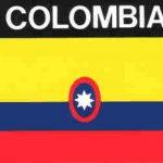 Aufkleber Kolumbien, Länderaufkleber, Nationalflagge, Autoaufkleber