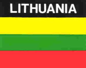 Aufkleber Littauen, Länderaufkleber, Nationalflagge, Autoaufkleber