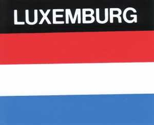 Aufkleber Luxemburg Flagge