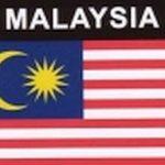 Aufkleber Malaysia, Länderaufkleber, Nationalflagge, Autoaufkleber