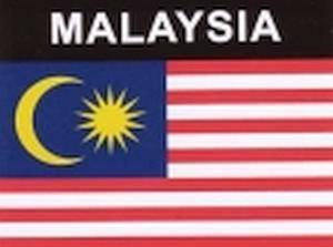 Aufkleber Malaysia Flagge