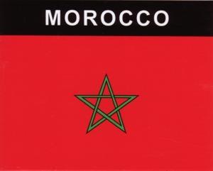 Aufkleber Marokko Flagge