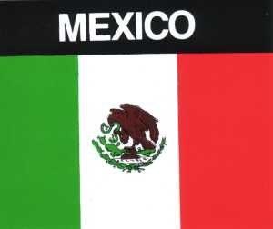 Aufkleber Mexiko, Länderaufkleber, Nationalflagge, Autoaufkleber