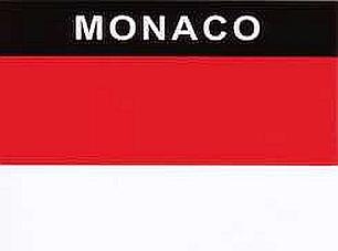 Aufkleber Monaco Flagge