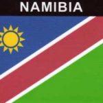 ufkleber Namibia, Länderaufkleber, Nationalflagge, Autoaufkleber