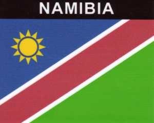 Aufkleber Namibia Flagge