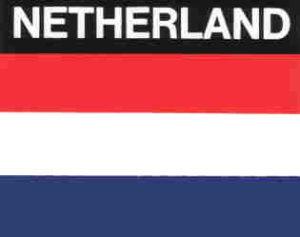 Aufkleber Niederlande, Länderaufkleber, Nationalflagge, Autoaufkleber