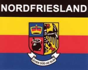 Aufkleber Nordfriesland, Länderaufkleber, Nationalflagge, Autoaufkleber
