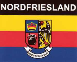 Aufkleber Nordfriesland Flagge