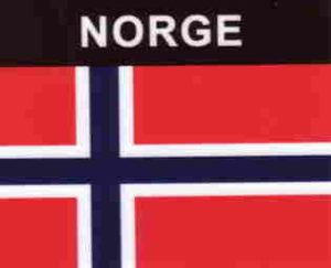 Aufkleber Norwegen, Länderaufkleber, Nationalflagge, Autoaufkleber