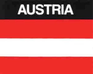 Aufkleber Österreich, Länderaufkleber, Nationalflagge, Autoaufkleber