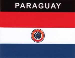 Aufkleber Paraguay Flagge