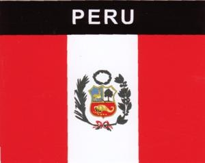 Aufkleber Peru Flagge