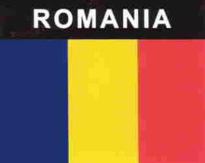 Aufkleber Rumänien, Länderaufkleber, Nationalflagge, Autoaufkleber