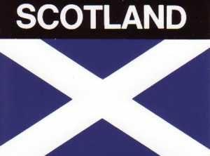 Aufkleber Schottland, Länderaufkleber, Nationalflagge, Autoaufkleber