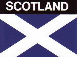 Aufkleber Schottland Flagge