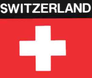 Aufkleber Schweiz, Länderaufkleber, Nationalflagge, Autoaufkleber