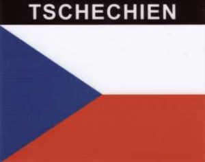 Aufkleber Tschechische Republik, Länderaufkleber, Nationalflagge, Autoaufkleber