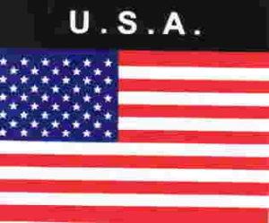 Aufkleber USA, Länderaufkleber, Nationalflagge, Autoaufkleber