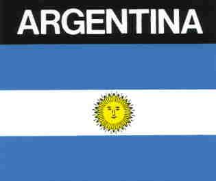 Aufkleber Argentinien, Länderaufkleber, Nationalflagge, Autoaufkleber