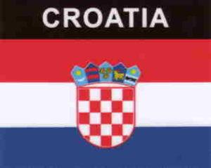 Aufkleber Kroatien, Länderaufkleber, Nationalflagge, Autoaufkleber