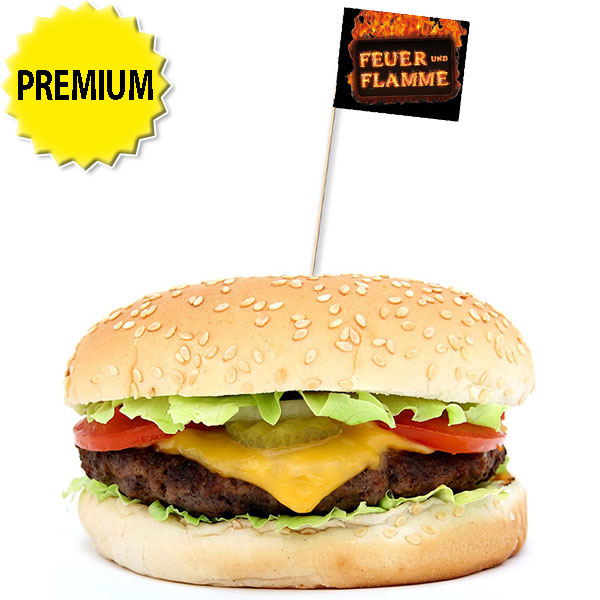 BurgerfähnchenStab 10 oder 12,5 cmfarbiger Druck — ab 100 Stück —