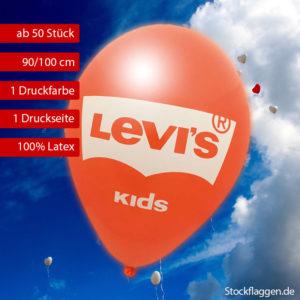 Luftballon bedrucken lassen, 90/100 cm Umfang, 1 seit 1 farbig, ab 50 Stück