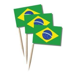Brasilien Käsepicker, Minifahnen, Zahnstocherfähnchen