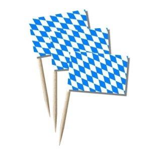 Bayern Käsepicker Minifähnchen Zahnstocherfähnchen