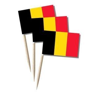 Belgien Käsepicker, Minifahnen, Zahnstocherfähnchen