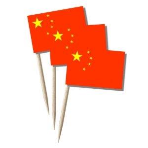 China Käsepicker, Minifahnen, Zahnstocherfähnchen