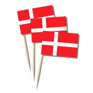 Käsepicker Dänemark | Minifahnen Zahnstocherfähnchen