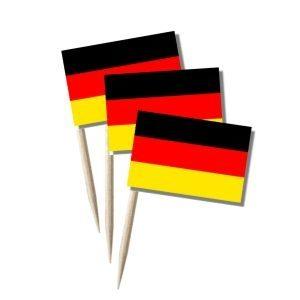 Deutschland Käsepicker, Minifahnen, Zahnstocherfähnchen