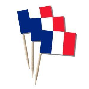 Frankreich Käsepicker, Minifahnen, Zahnstocherfähnchen